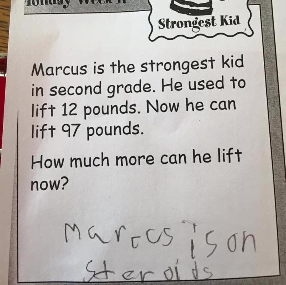 Marcus is on steroids.