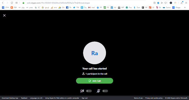 Cara Join teleconference menggunakan skype web