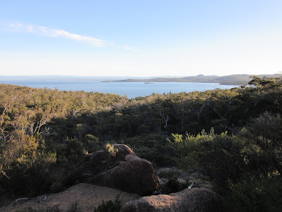 Vistas de Great Oyster Bay desde Freycinet National Park