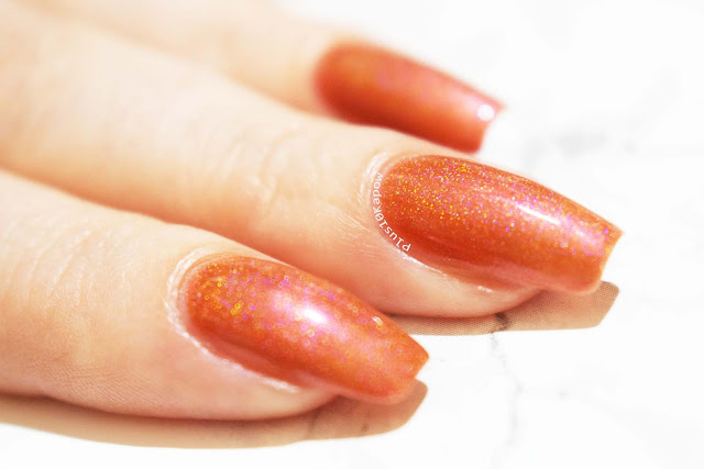 Dystopia Nail Polish Samhain Collection Swatches Fires at Midnight