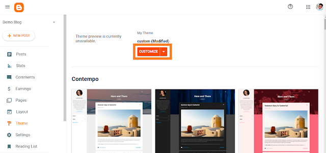 How to install blogger template 2020 step 2