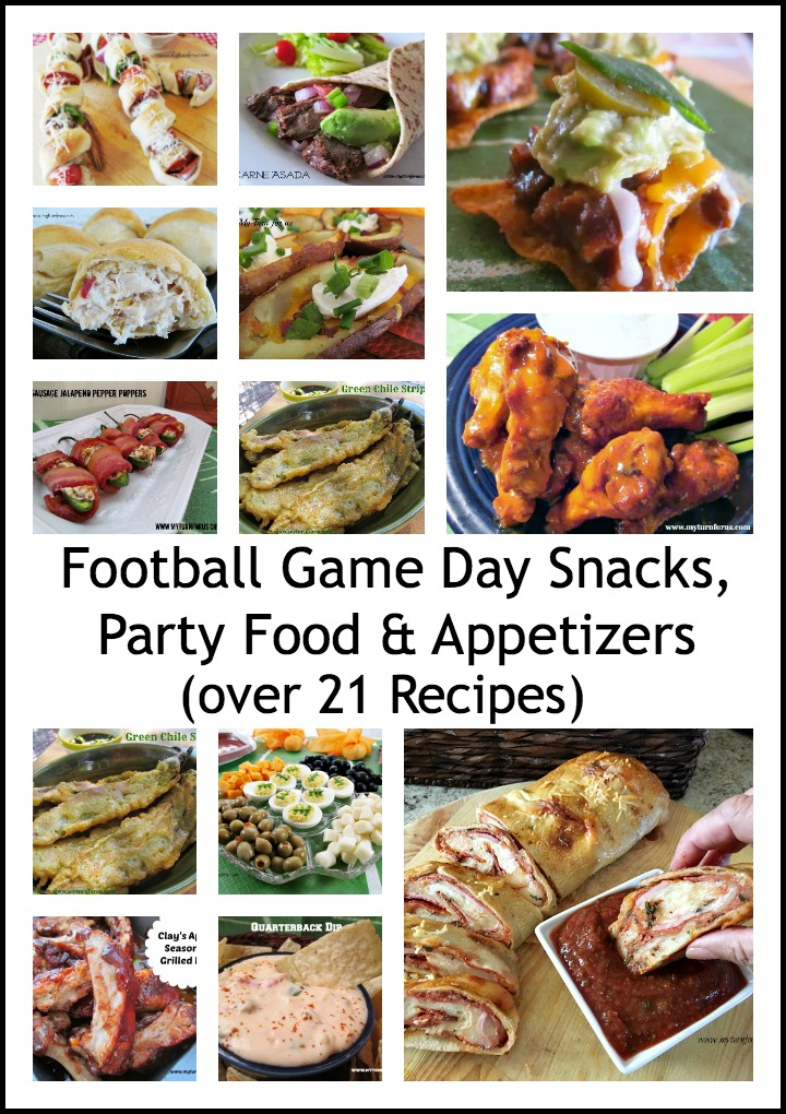 Appetizers, snacks and Football themed food recipes