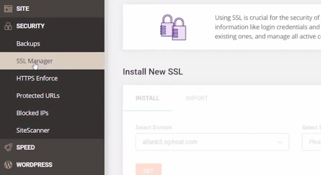 install free SSL certificate on siteground