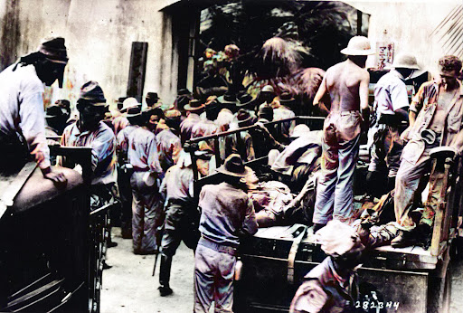Captured American and Filipino soldiers at Corregidor