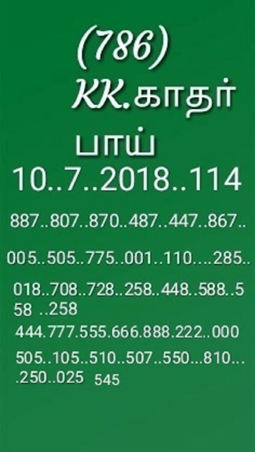 kerala lottery abc guessing Sthree Sakthi SS-114 on 10-07-2018 by KK
