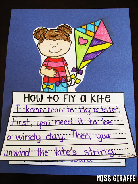 How to Fly a Kite is a great Spring writing prompt for kids to practice how to writing in a fun way