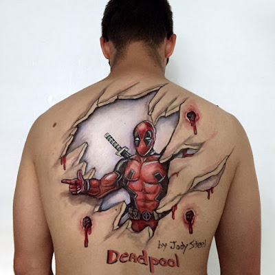 Bodypaint de Deadpool.