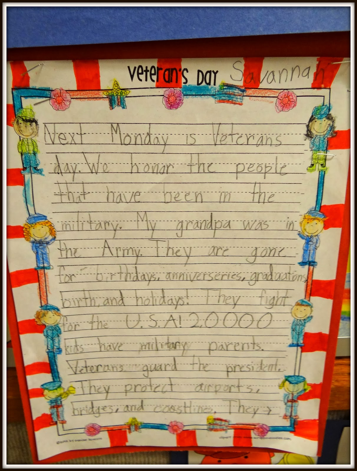 Veterans Day Handprint art – Patties Classroom [ 1600 x 1211 Pixel ]