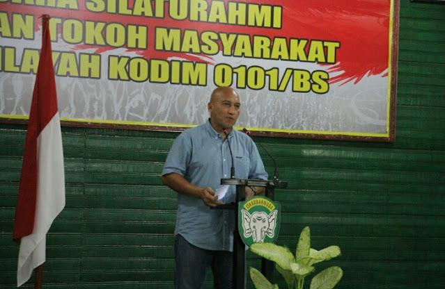 Dandim 0101/ BS ajak Sinergitas Dengan Wartawan Semakin Kuat