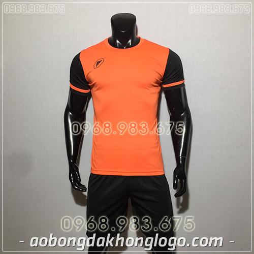 Áo bóng đá ko logo Fagan DG màu cam