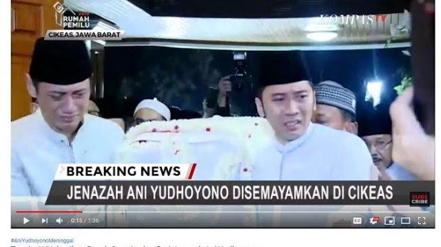Kala Tangis AHY dan Ibas Pecah saat Angkat Peti Jenazah Ani Yudhoyono Masuki Rumah Duka di Cikeas