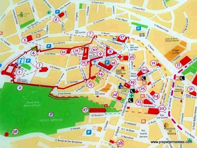 mapa turístico de Cuéllar