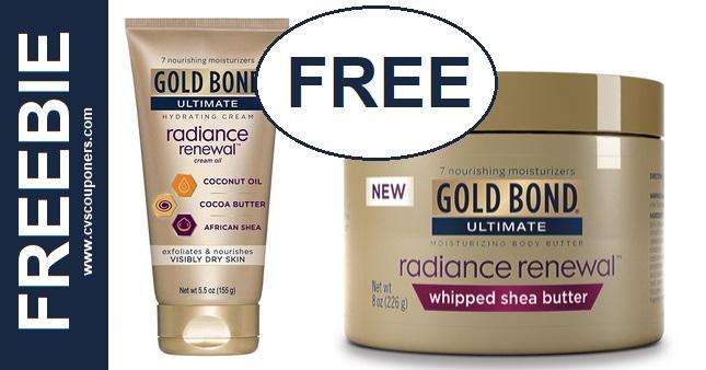FREE Gold Bond Ultimate Radiance Renewal at CVS