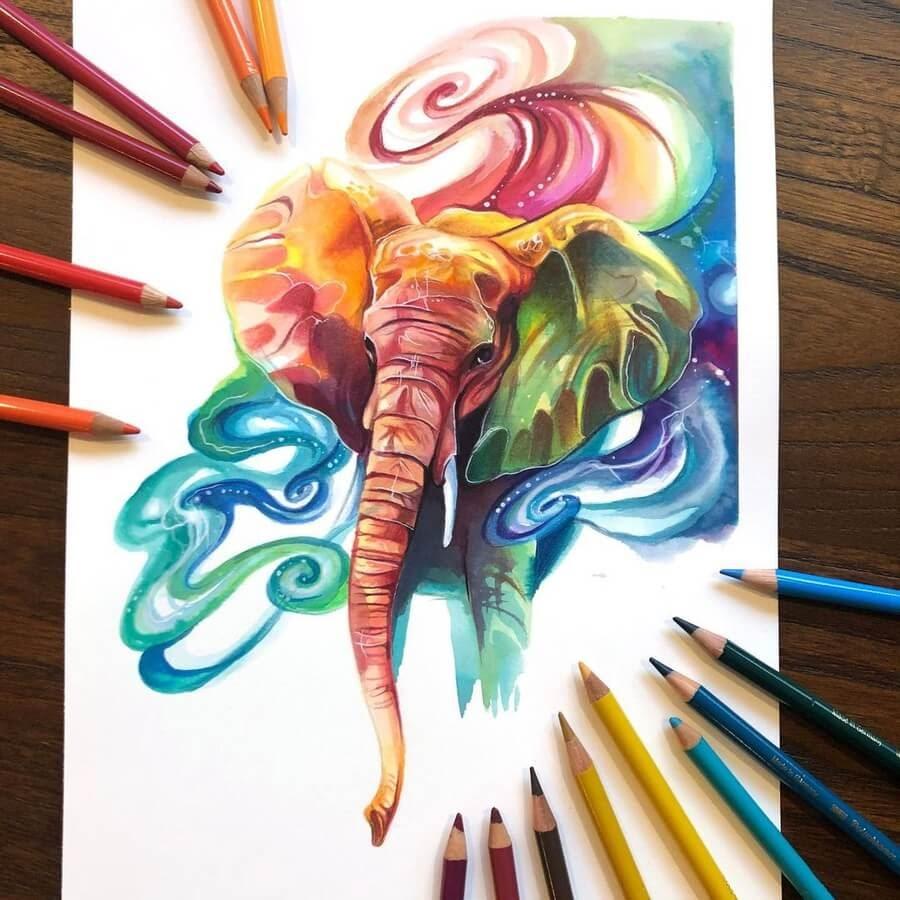 12-Swirls-of-color-Elephant-Katy-Lipscomb-www-designstack-co