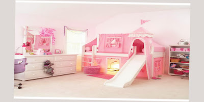 Really Cool Bunk Beds For Girls Only Pink With Big Size Room Recommended for You