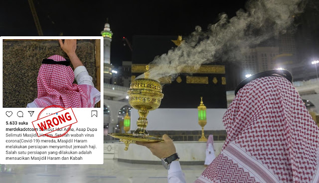 Wewangian Yang Dibakar di Masjidil Haram Itu Bukan Dupa, Tapi Gaharu