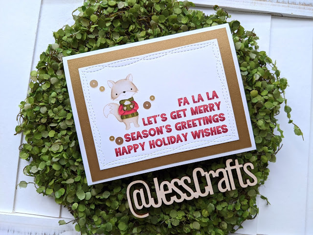 Christmas Card featuring Reverse Confetti Seasonal Says It All and Hello Bluebird Cocoa Party