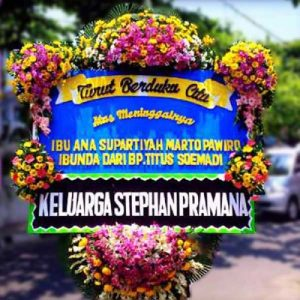 Image result for bunga papan duka cita prestisa