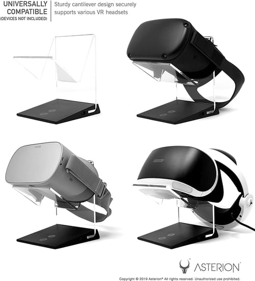 Asterion Illuminated Charging VR Stand