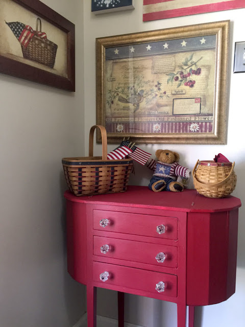 red cabinet, red painted sewing cabinet, how to refinish an antique sewing cabinet