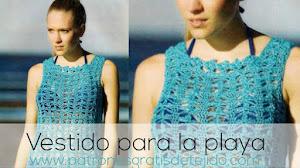 Vestido Calado a Crochet 👗 Paso a paso