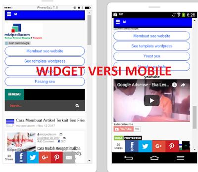 Cara Mudah Menampilkan Widget  versi Mobile di Blogger