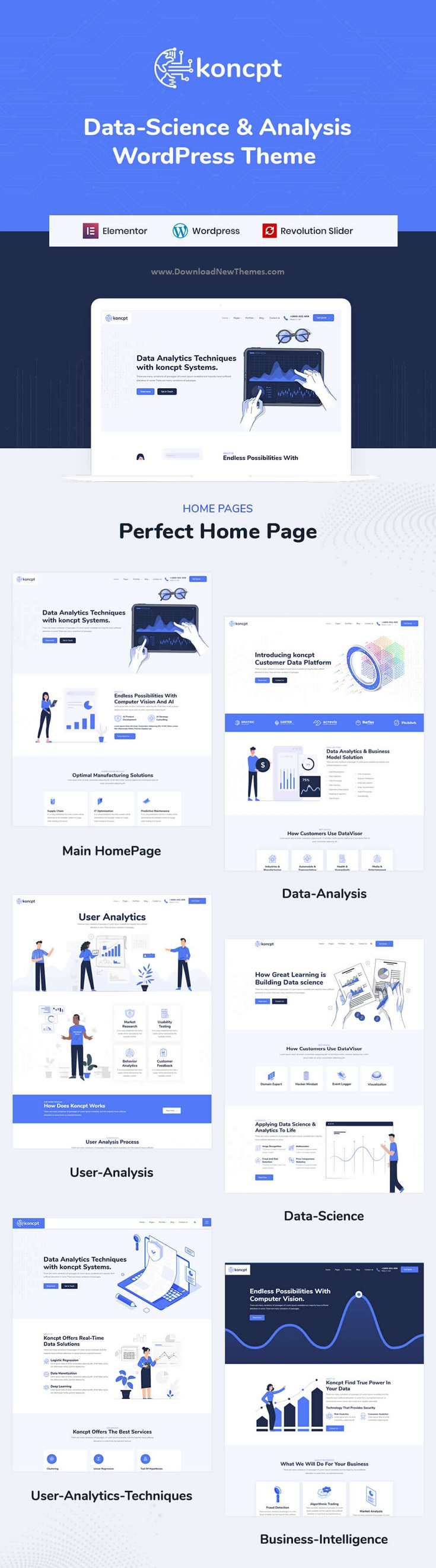 Data Science and Analytics WordPress Theme