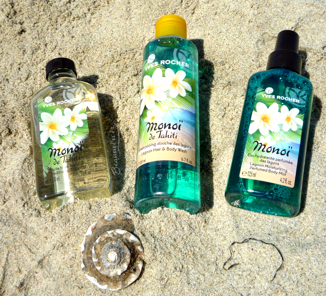 Yves Rocher Monoi de Tahiti line review: exotic scent for the body!