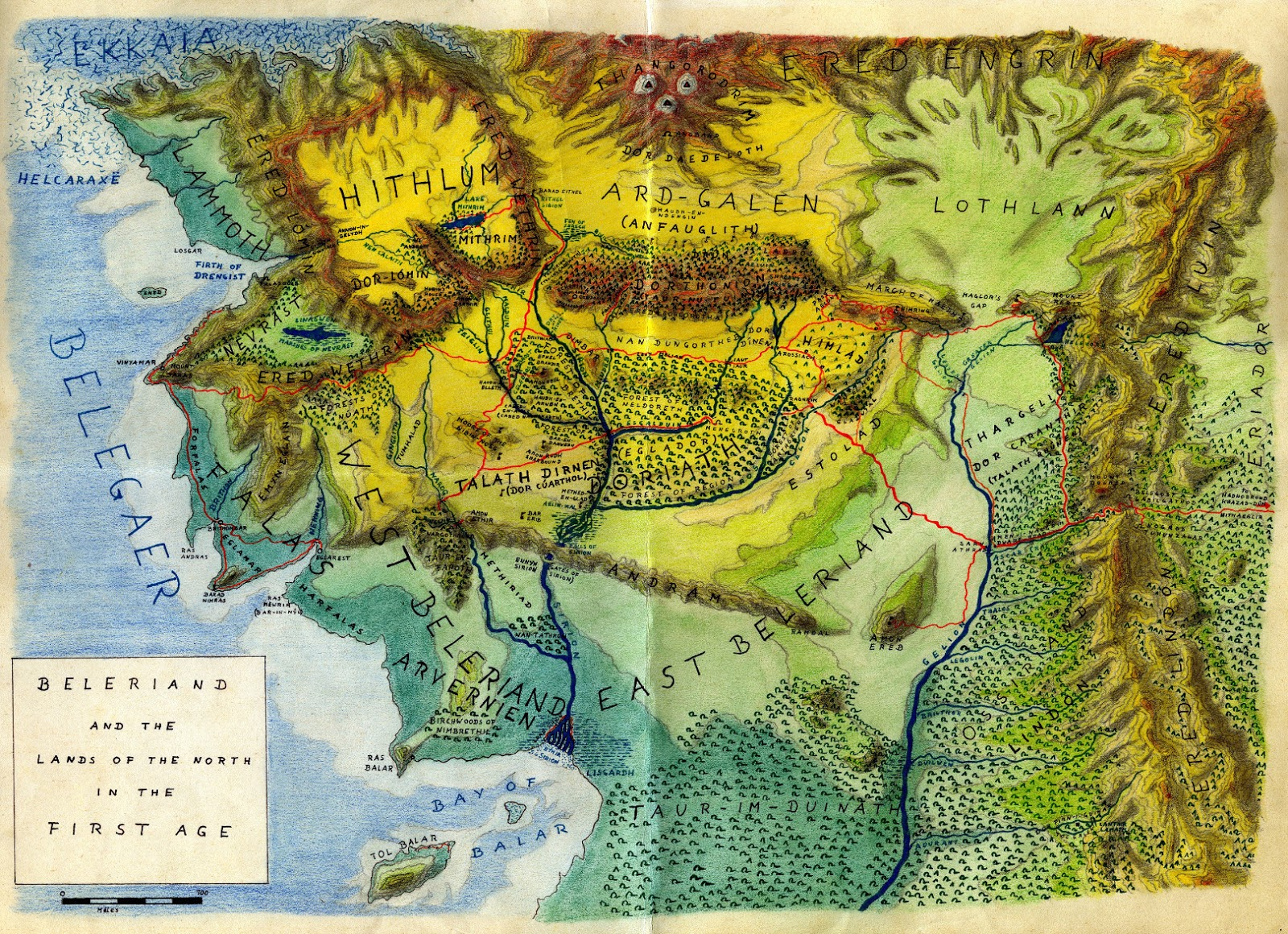 beleriand2bgb map of beleriand and