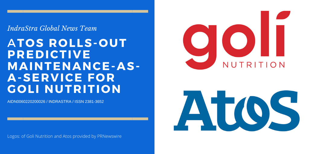 Atos Rolls-out Predictive Maintenance-as-a-Service for Goli Nutrition