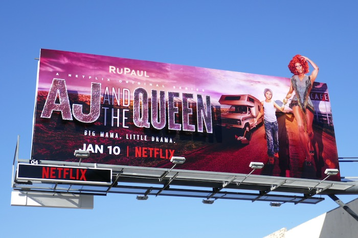 RuPaul AJ and the Queen billboard