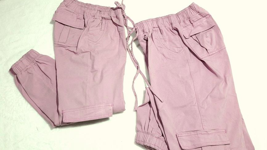 Pantalon Gabardina stretch, bolsas a los costados en Color Palo de Rosa