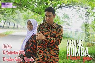 Image result for Penyanyi Amira Othman berlakon dalam drama Abang Bomba I love you