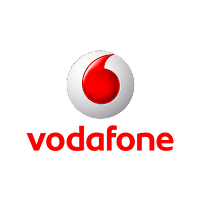 Vodafone yazısı, logosu.