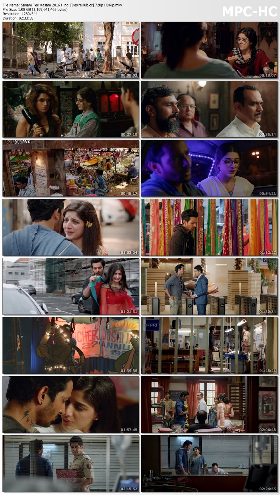Sanam Teri Kasam 2016 Hindi 720p HDRip 1GB Desirehub