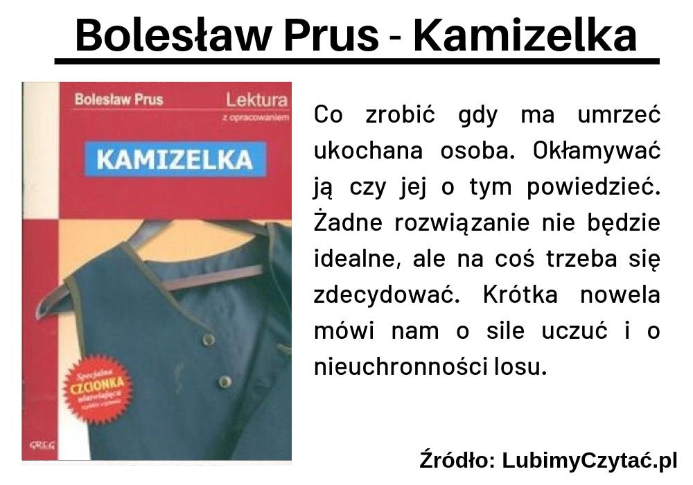 Bolesław Prus - Kamizelka, Topki, Marzenie Literackie
