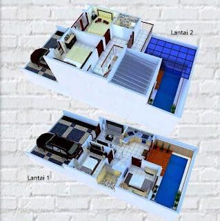 Denah Rumah Minimalis Modern Ukuran 7x12 Antonina Desain Minimalis