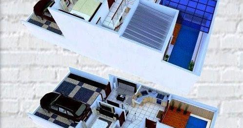 denah rumah minimalis ukuran 6x8   contoh desain minimalis usf