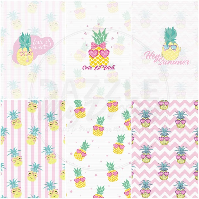 "HUGE Wallpaper Bundle ""Pineapple Craze v.1"""
