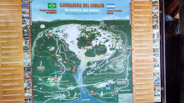 Mapa das Cataratas del Iguazú.