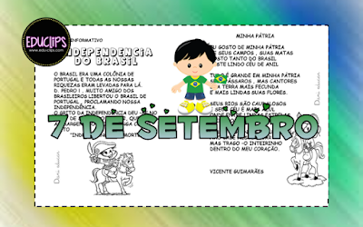 7 de setembro, Atividades de 1º ano, Atividades de alfabetização, Datas comemorativas, Independência do Brasil,