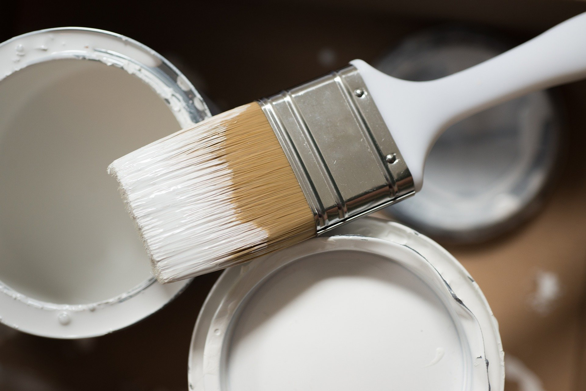 Paint pots, paint brushes and home makeover ideas