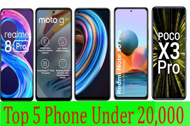 Best 5 Smartphone Under 20,000 In India