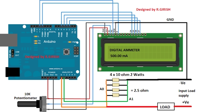 Adjust the 10K potentiometer to adjust display contrast