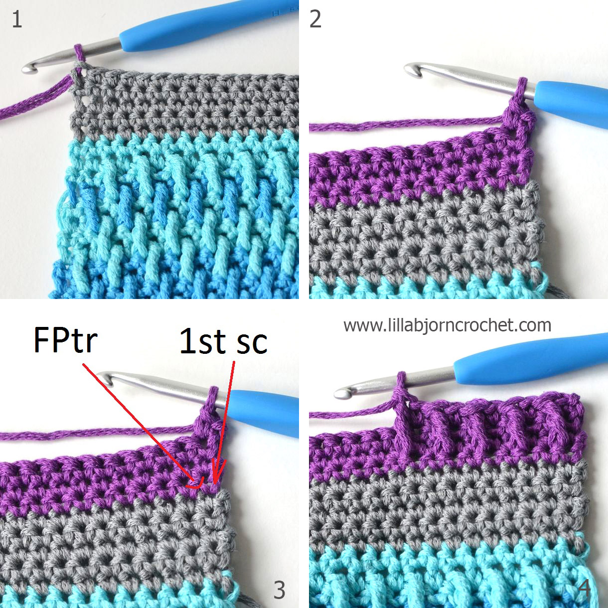 Öresund Sky Bathmat - Free crochet pattern by Lilla Bjorn Crochet