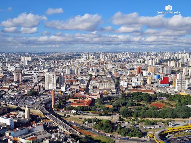 Vista panorâmica de parte do Bairro do Brás - São Paulo