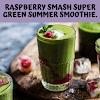 RASPBERRY SMASH SUPER GREEN SUMMER SMOOTHIE.