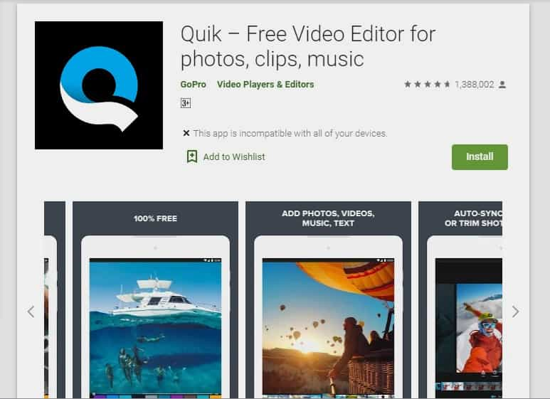 تطبيق Quik