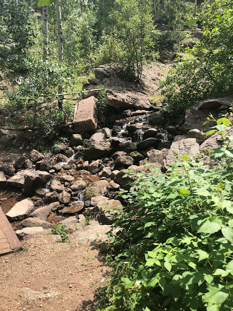 Crystal Creek tumbles creating the bottom of Crystal Falls