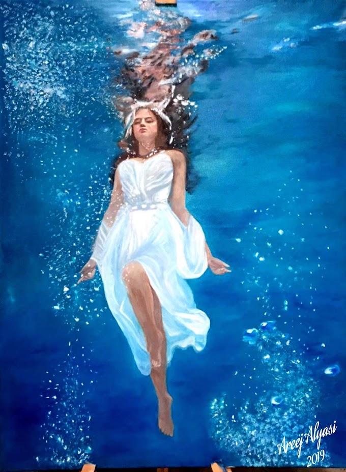 لوحات فنية رائعة للرسامة اريج الياسي